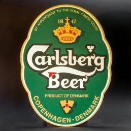 Targa Carlsberg in legno